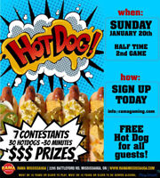 Looking 4 participants 4 a hotdog eating contest 1st price$300
