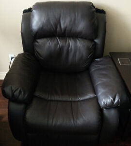 **Comfy & Sturdy Espresso Brown Faux Leather Manual Recliners**