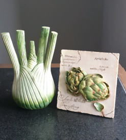 Porcelain artichoke wall art/3D