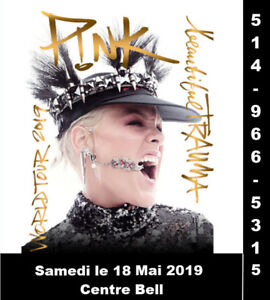 Pink, 18/05/2019, Centre Bell, Section Rouge,Club,  Blanc, Bleu