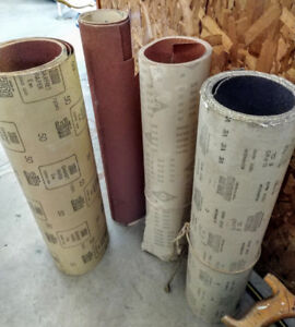 Assorted sand paper, 55$ obo