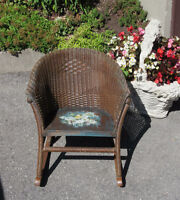 Antique Child OR Doll Wicker Rocking Chair - Hand Painted Seat City of Montréal Greater Montréal Preview