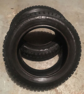 2 winter tires - only 5% to 10% used - $50 each or both for $90