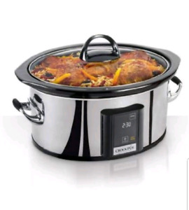 Crock pot 6.5 quart slow cooker with eLume touchscreen