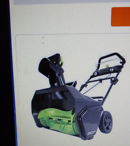 Snowblower  80 V Lithium Battery   Greenworks