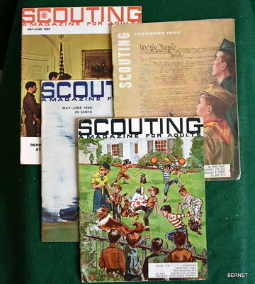 VINTAGE BOY SCOUT- LOT OF FOUR 1960's SCOUTING MAGAZINES