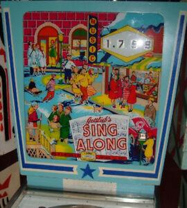 1967 Gottlieb Sing Along Pinball Machine - (Needs Repair)