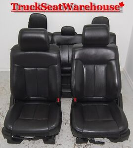 Ford F150 2014 BLACK LEATHER Power heated cooled crew cab seats