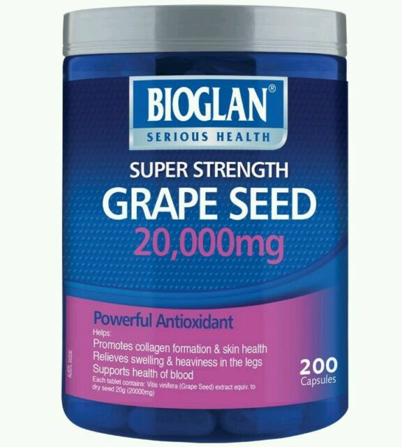 Bioglan Grapeseed 20000mg 200 Capsules - OzHealthExperts