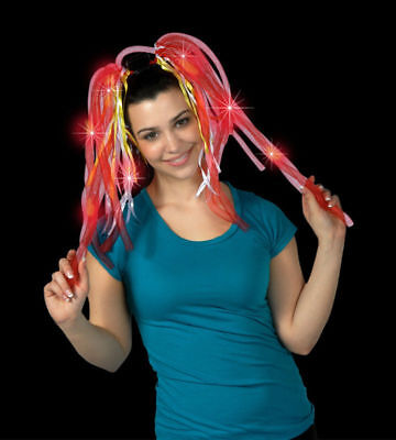 Led Dreadlocks (2 NEW LED Flashing Light Up Tentacle/Dreadlock Colorful Hair)
