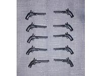 6x lego weapon gun braun pirates soldiers 6273 6290 6285 2562