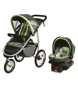 Graco Fast Action Fold Click Connect Jogger Travel System with S