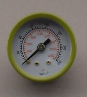 "1 5/8"" HIGH PRESSURE GAUGE 4000 psi. MIG,OXY, REAR 1/8"" MALE NPT"
