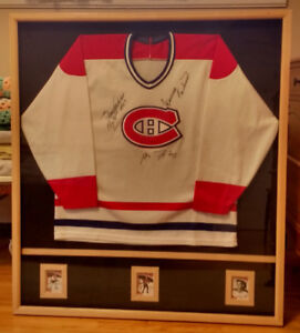 Mounted Montreal Canadiens Jersey Signed