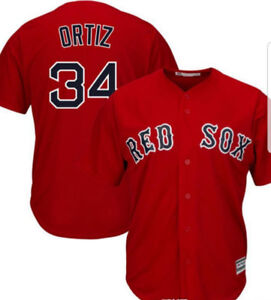 #34 Ortiz Boston Red Sox Baseball Jersey.  New & Large only.