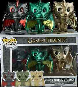 Game of Thrones 3 pack Metallic Dragons - great condition please