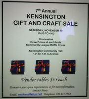 Vendors for Kensington Gift and Craft Sale