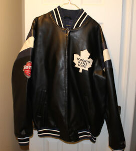 Authentic Leather East Conf Playoffs Toronto Maple Leafs Jacket
