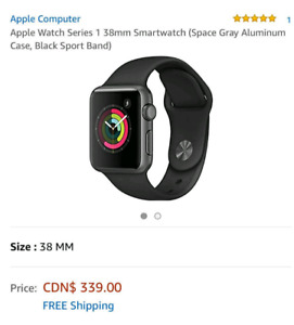 Apple Watch Series 1 (38mm) Actual Price $339 + $44 TAX