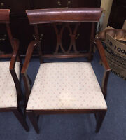 SET OF 6 MOHAGONY DINING ROOM TABLE CHAIRS MISSISSAUGA