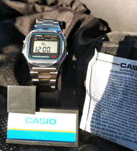 (New) Casio Watch Classic Digital Stainless Steel