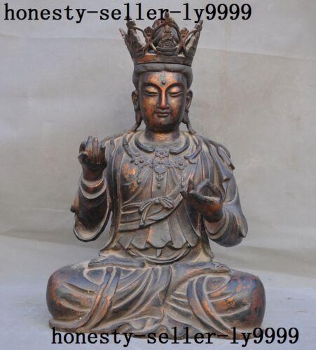 Tibetan Buddhism Purple Copper Maitreya Bodhisattva Jizo Ksitigarbha Monk Buddha