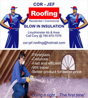 Cor-Jef Roofing & Blow in Insulation