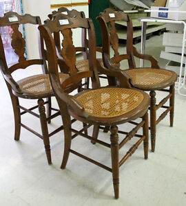 Wicker cane chairs @ Habitat ReStore in Cobourg