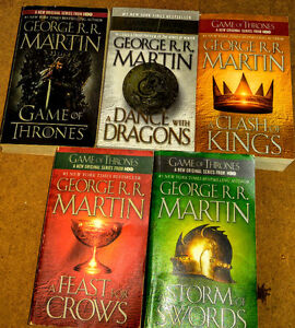 George RR Martin  Game of Thrones 1-5  & Vol 1&2 of Dreamsong