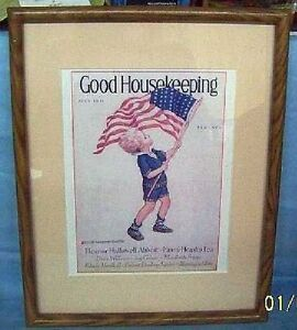 AD GOOD HOUSEKEEPING MAGAZINE COVER FLAG Advertising 1931/59 SMITH ...