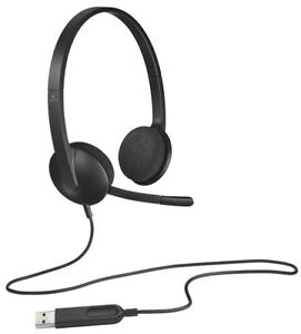 Logitech H340 Wired USB Headset, Black