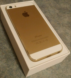 Gold iPhone 5s with box