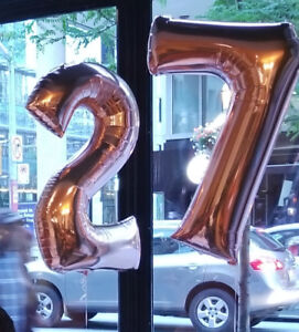 HUGE ROSE GOLD HELIUM BALLOONS ($12 each) #2 and #7