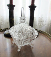 Vintage Foot Glass Candy Dish with Lid City of Montréal Greater Montréal Preview