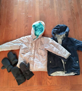 Boys size 5 coats and mittens