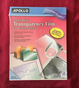 Apollo Inkjet Transparency Film Letter Size Brand New