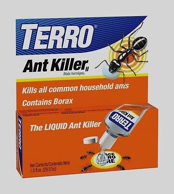 1oz TERRO Liquid ANT KILLER II Insect Pest Control BORAX Indoor Bait NEW -
