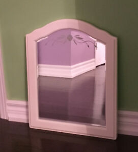 Girl's Pottery Barn Kids Etched Flower Mirror  - Gorgeous