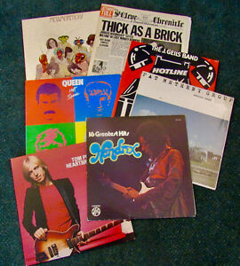 RECORDS - CLASSIC ROCK, JAZZ, SEALED AND OPEN CONTINUES