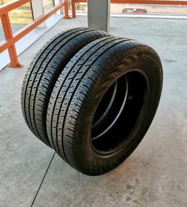 Set of two 185/65/15 Continental all season. 7/32nd tread