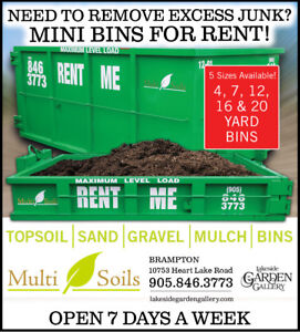 DISPOSAL BINS FOR RENT!