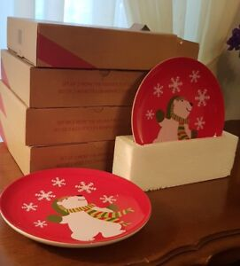 Plates WinterTheme Set of 8 $10  Avon Quality Boxed