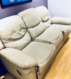 Leather Sofa/Recliner