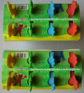 Sesame Street Popsicle Molds Oscar Emo Cookie Monster Big Bi