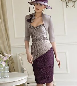 Strapless mother of the bride/groom dress+free jacket Prom occasion lady outfit