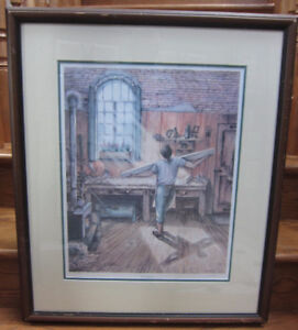 """The Carpenter"" Large Framed Print By T. Judith"