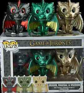 Funko POP! vinyl Game of Thrones 3 pack Metallic Dragons
