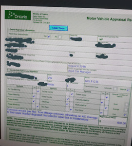Vehicle Appraisal Service - Private Sale HST