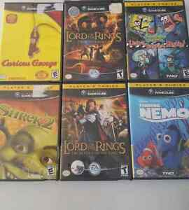 Lot de 6 jeux  de game cube