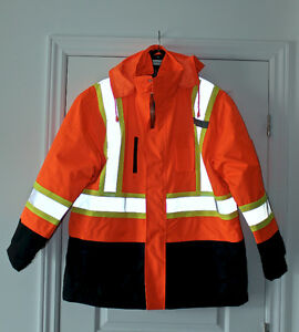 WINTER HIGH VISIBILITY LG JACKETS AND REFLECTIVE 3M